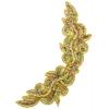 Motif Sequin/beaded 34.6x13.5cm Dark gold Aurora Borealis